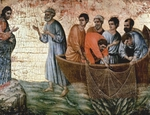 Jesus Appears on Lake Tiberias.  Duccio, di Buoninsegna, -1319?  Click to enter image viewer  Use the Save buttons below to save any of the available image sizes to your computer.