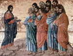 Christ Appears to the Disciples on the Mountain in Galilee.  Duccio, di Buoninsegna, d. 1319  Click to enter image viewer  Use the Save buttons below to save any of the available image sizes to your computer.