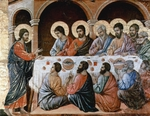 Christ Appears to the Disciples at the Table after the Resurrection.  Duccio, di Buoninsegna, d. 1319  Click to enter image viewer  Use the Save buttons below to save any of the available image sizes to your computer.
