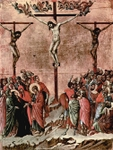 Crucifixion.  Duccio, di Buoninsegna, d. 1319  Click to enter image viewer  Use the Save buttons below to save any of the available image sizes to your computer.