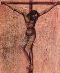 Thief on the Cross, detail from Crucifixion.  Duccio, di Buoninsegna, d. 1319  Click to enter image viewer  Use the Save buttons below to save any of the available image sizes to your computer.