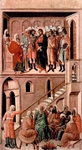 Christ Before Annas (top); Peter Denying Jesus (bottom).  Duccio, di Buoninsegna, -1319?  Click to enter image viewer  Use the Save buttons below to save any of the available image sizes to your computer.