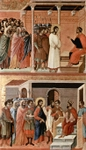 Christ before Pilate Again (top); Christ Before Herod (bottom).  Duccio, di Buoninsegna, d. 1319  Click to enter image viewer  Use the Save buttons below to save any of the available image sizes to your computer.