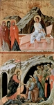 Three Marys at the Tomb (top); Descent into Hell (bottom).  Duccio, di Buoninsegna, d. 1319  Click to enter image viewer  Use the Save buttons below to save any of the available image sizes to your computer.