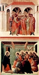 Pact of Judas (top);  Christ Taking Leave of the Apostles (bottom).  Duccio, di Buoninsegna, -1319?  Click to enter image viewer  Use the Save buttons below to save any of the available image sizes to your computer.
