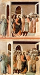 The Mocking/Flagellation (above); Christ before Annas and Peter denying Jesus (below).  Duccio, di Buoninsegna, d. 1319  Click to enter image viewer  Use the Save buttons below to save any of the available image sizes to your computer.