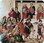 Children of Bethlehem killed by Herod's orders (Massacre of the Innocents).  Duccio, di Buoninsegna, d. 1319  Click to enter image viewer  Use the Save buttons below to save any of the available image sizes to your computer.