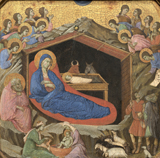 Birth of Christ.  Duccio, di Buoninsegna, d. 1319  Click to enter image viewer  Use the Save buttons below to save any of the available image sizes to your computer.