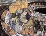 House in the City.  Schiele, Egon, 1890-1918  Click to enter image viewer  Use the Save buttons below to save any of the available image sizes to your computer.