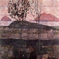 Sunset.  Schiele, Egon, 1890-1918  Click to enter image viewer  Use the Save buttons below to save any of the available image sizes to your computer.