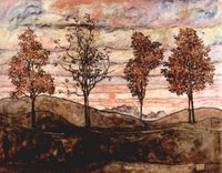 Four Trees.  Schiele, Egon, 1890-1918  Click to enter image viewer  Use the Save buttons below to save any of the available image sizes to your computer.