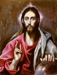 Pantocrator - Christ.  Greco, 1541?-1614  Click to enter image viewer  Use the Save buttons below to save any of the available image sizes to your computer.