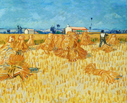 Harvest in Provence.  Gogh, Vincent van, 1853-1890  Click to enter image viewer  Use the Save buttons below to save any of the available image sizes to your computer.