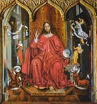 Christ in Judgment.  Gallego, Fernando, ca. 1440-ca. 1507  Click to enter image viewer  Use the Save buttons below to save any of the available image sizes to your computer.