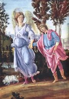 Tobias and the Angel.  Lippi, Filippino, d. 1504  Click to enter image viewer  Use the Save buttons below to save any of the available image sizes to your computer.
