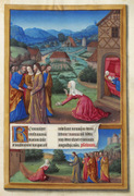 The Canaanite Woman asks for healing for her daughter.  Limbourg, Herman de, approximately 1385-approximately 1416, Limbourg, Jean de, approximately 1385-approximately 1416, Limbourg, Pol de, approximately 1385-approximately 1416  Click to enter image viewer  Use the Save buttons below to save any of the available image sizes to your computer.