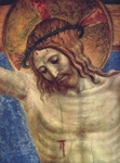 Crucifixion, detail.  Angelico, fra, approximately 1400-1455  Click to enter image viewer  Use the Save buttons below to save any of the available image sizes to your computer.