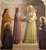 Presentation in the Temple.  Angelico, fra, approximately 1400-1455  Click to enter image viewer  Use the Save buttons below to save any of the available image sizes to your computer.