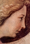 Annunciation, detail of Gabriel.  Angelico, fra, approximately 1400-1455  Click to enter image viewer  Use the Save buttons below to save any of the available image sizes to your computer.
