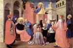Peter Preaching - [Lectionary selection, Fifth Sunday of Easter, Year C].  Angelico, fra, approximately 1400-1455  Click to enter image viewer  Use the Save buttons below to save any of the available image sizes to your computer.
