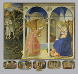 Annunciation.  Angelico, fra, approximately 1400-1455  Click to enter image viewer  Use the Save buttons below to save any of the available image sizes to your computer.