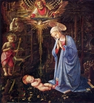 Adoration of the Child in the Forest.  Lippi, Filippo, approximately 1406-1469  Click to enter image viewer  Use the Save buttons below to save any of the available image sizes to your computer.