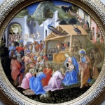 Adoration of the Child.  Lippi, Filippo, approximately 1406-1469  Click to enter image viewer  Use the Save buttons below to save any of the available image sizes to your computer.