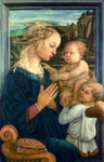 Madonna with Children.  Lippi, Filippo, ca. 1406-1469  Click to enter image viewer  Use the Save buttons below to save any of the available image sizes to your computer.