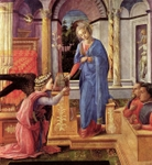 Annunciation.  Lippi, Filippo, ca. 1406-1469  Click to enter image viewer  Use the Save buttons below to save any of the available image sizes to your computer.