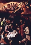 Adoration of the Magi - Nativity.  Zurbarán, Francisco, 1598-1664  Click to enter image viewer  Use the Save buttons below to save any of the available image sizes to your computer.