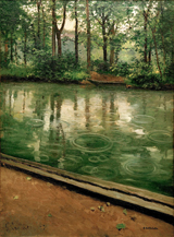 Yerres, the Effect of Rain.  Caillebotte, Gustave, 1848-1894  Click to enter image viewer  Use the Save buttons below to save any of the available image sizes to your computer.