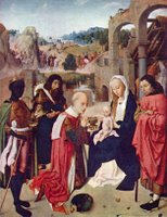 Adoration of the Magi.  Geertgen, tot Sint Jans, ca. 1460-1495  Click to enter image viewer  Use the Save buttons below to save any of the available image sizes to your computer.
