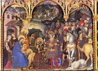 Adoration of the Three Kings.  Gentile, da Fabriano, ca. 1370-1427  Click to enter image viewer  Use the Save buttons below to save any of the available image sizes to your computer.