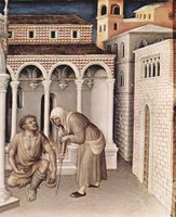 Adoration of the Three Kings - Presentation in the Temple, detail.  Gentile, da Fabriano, ca. 1370-1427  Click to enter image viewer  Use the Save buttons below to save any of the available image sizes to your computer.