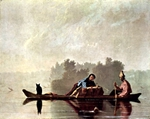 Boaters on the Missouri.  Bingham, George Caleb, 1811-1879  Click to enter image viewer  Use the Save buttons below to save any of the available image sizes to your computer.