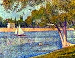 The River Seine.  Seurat, Georges, 1859-1891  Click to enter image viewer  Use the Save buttons below to save any of the available image sizes to your computer.