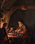 Old Woman at Dinner.