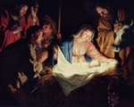 Nativity Scene.  Honthorst, Gerrit van, 1590-1656  Click to enter image viewer  Use the Save buttons below to save any of the available image sizes to your computer.