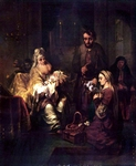 Presentation of Christ in the Temple.  Eeckhout, Gerbrand van den, 1621-1674  Click to enter image viewer  Use the Save buttons below to save any of the available image sizes to your computer.