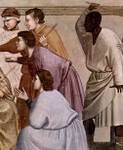 Flagellation, detail.  Giotto, 1266?-1337  Click to enter image viewer  Use the Save buttons below to save any of the available image sizes to your computer.