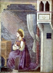 Annunciation.  Giotto, 1266?-1337  Click to enter image viewer  Use the Save buttons below to save any of the available image sizes to your computer.