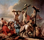 Crucifixion.  Tiepolo, Giovanni Battista, 1696-1770  Click to enter image viewer  Use the Save buttons below to save any of the available image sizes to your computer.