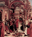 The Arrest of Mark in the Synagogue.  Bellini, Giovanni, 1426?-1516  Click to enter image viewer  Use the Save buttons below to save any of the available image sizes to your computer.