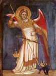 Archangel Michael.  Guariento, ca. 1310-ca. 1370  Click to enter image viewer  Use the Save buttons below to save any of the available image sizes to your computer.