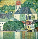 Church in Unterach.  Klimt, Gustav, 1862-1918  Click to enter image viewer  Use the Save buttons below to save any of the available image sizes to your computer.
