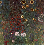 Garden with Sunflowers.  Klimt, Gustav, 1862-1918  Click to enter image viewer  Use the Save buttons below to save any of the available image sizes to your computer.