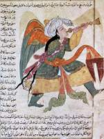 Archangel Raphael Blowing the Trumpet to Signal the Last Judgment.   Click to enter image viewer  Use the Save buttons below to save any of the available image sizes to your computer.