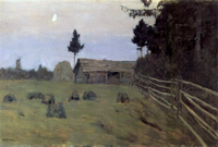 Twilight.  Levitan, Isaak Ilʹich, 1860-1900  Click to enter image viewer  Use the Save buttons below to save any of the available image sizes to your computer.