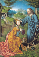 Noli Me Tangere.  Van Oostsanen, Jacob Cornelisz, 1472?-1533  Click to enter image viewer  Use the Save buttons below to save any of the available image sizes to your computer.