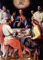 Supper at Emmaus.  Pontormo, Jacopo da, 1494-1556  Click to enter image viewer  Use the Save buttons below to save any of the available image sizes to your computer.